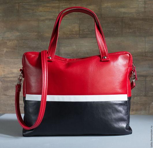 Женские сумки ручной работы. Ярмарка Мастеров - ручная работа. Купить Кожаная сумка  , кожаный портфель   - Фортуна. Handmade.