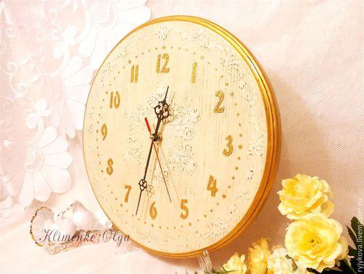 """Часы для дома ручной работы. Ярмарка Мастеров - ручная работа. Купить Часы настенные """"Классика"""" 30см. Handmade. Бежевый, сосна"""