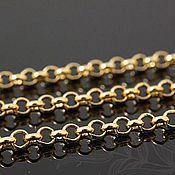 Материалы для творчества handmade. Livemaster - original item Rolo chain 2,5 mm, art. 4-16A gold plated. Handmade.