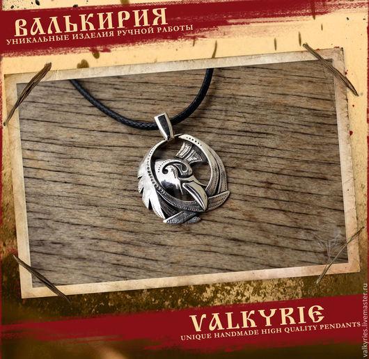 Кулоны и подвески ручной работы  из серебра 925 пробы.Кулон ворон ,скандинавский стиль .Мастерская Валькирия.