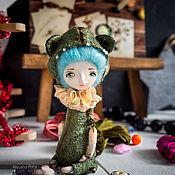 """Куклы и игрушки ручной работы. Ярмарка Мастеров - ручная работа Тедди долл """"Голубой чертополох"""" в деревянной коробке. Handmade."""