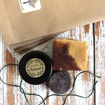 Косметика ручной работы. Ярмарка Мастеров - ручная работа ПРЕДВКУШЕНИЕ набор шоколадного натурального мыла. Handmade.