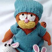 Куклы и игрушки ручной работы. Ярмарка Мастеров - ручная работа Вязаная игрушка Гарфилд, Доброе  утро. Handmade.