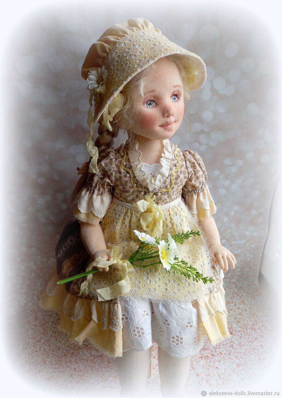 Текстильная Кукла Ангелина, Шарнирная кукла, Челябинск,  Фото №1