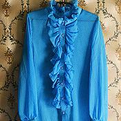 Одежда ручной работы. Ярмарка Мастеров - ручная работа Блузка из шифона с рюшами. Handmade.