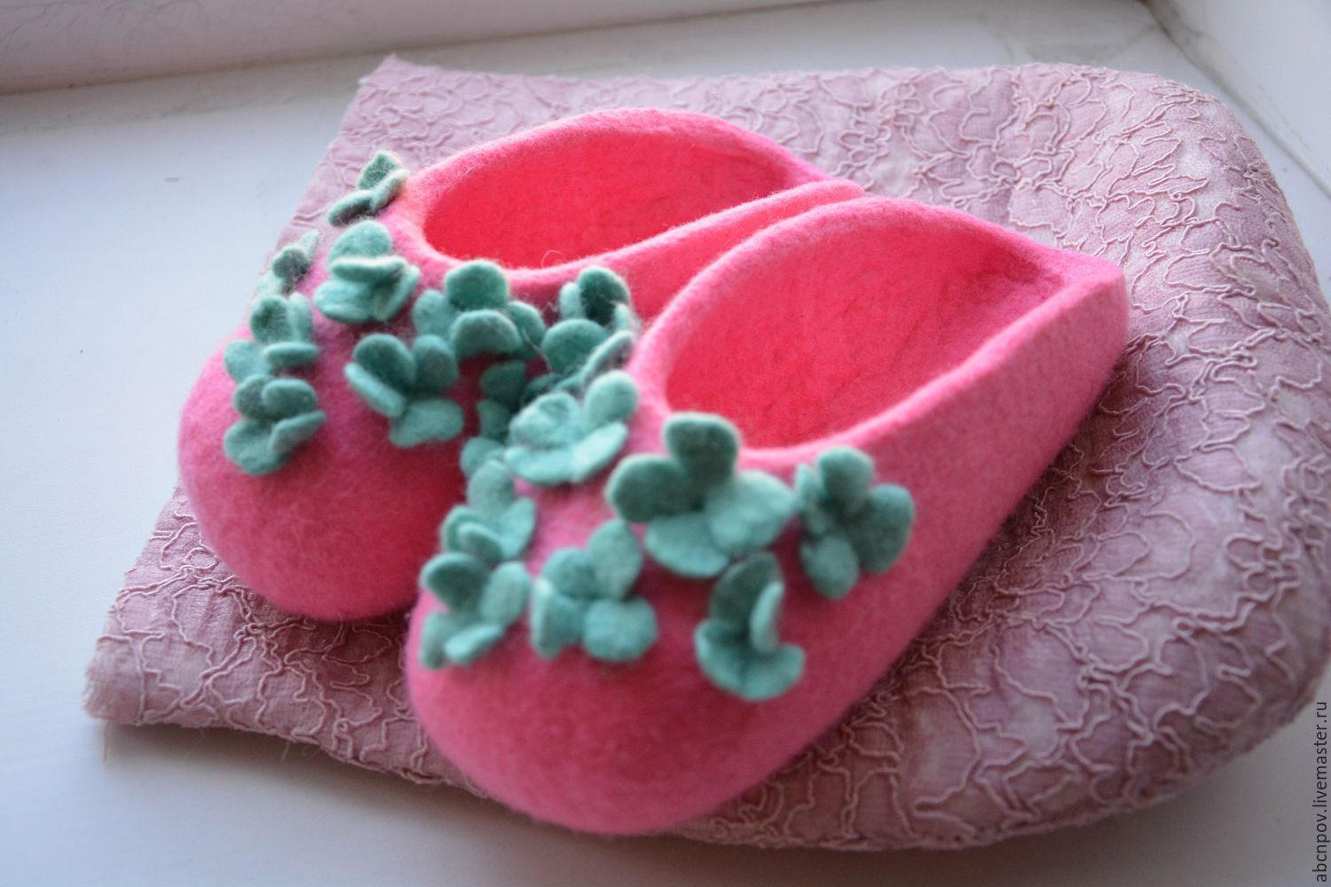 Slippers-ballet shoes based on 'Fialochka' for the baby, Slippers, Liski,  Фото №1