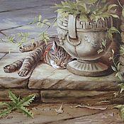 """Картины и панно ручной работы. Ярмарка Мастеров - ручная работа Авторская картина маслом """"Сон"""". Handmade."""