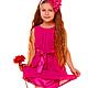 """Одежда для девочек, ручной работы. Ярмарка Мастеров - ручная работа. Купить Платье """"Серенада в долине"""". Handmade. Фуксия, платье для девочки"""