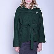 Одежда handmade. Livemaster - original item Loden jacket, dark green. Handmade.