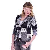 """Одежда ручной работы. Ярмарка Мастеров - ручная работа Пиджак в стиле пэчворк """" Серый мрамор"""" короткий. Handmade."""