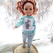 Одежда для кукол ручной работы. Ярмарка Мастеров - ручная работа Свитшот+джинсы + повязка для Паола Рейна. Handmade.