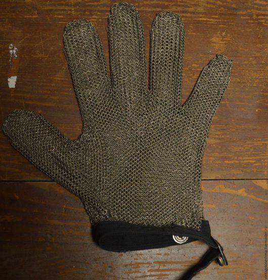 Быт ручной работы. Ярмарка Мастеров - ручная работа. Купить Кольчужная перчатка. Handmade. Серый, перчатка для мяса, мельхиор