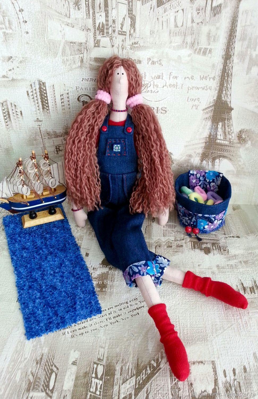 Tilde - holder scrunchies, Tilda in overalls, Tilda Dolls, Moscow,  Фото №1