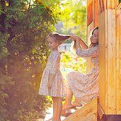 Одежда ручной работы. Ярмарка Мастеров - ручная работа Платья для мамы и дочки. Handmade.