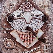 """Картины и панно ручной работы. Ярмарка Мастеров - ручная работа Панно """"Шерлок"""". Handmade."""