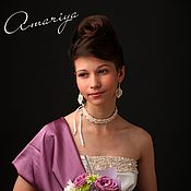 Свадебный салон ручной работы. Ярмарка Мастеров - ручная работа Колье-диадема свадебная. Handmade.
