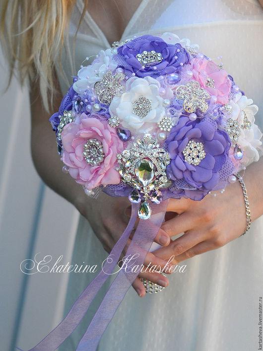 Свадебные цветы ручной работы. Ярмарка Мастеров - ручная работа. Купить Свадебный брошь букет из шифона. Handmade. Айвори
