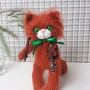 Куклы и игрушки handmade. Livemaster - original item Soft toys: Cat knitted Fiddler. Handmade.