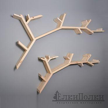 """Мебель ручной работы. Ярмарка Мастеров - ручная работа Полка """"Ветка"""". Handmade."""