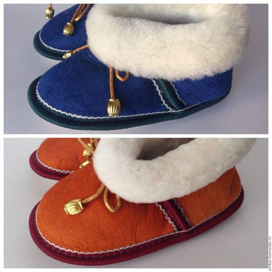 Обувь ручной работы. Ярмарка Мастеров - ручная работа. Купить Чуни детские модель №3. Handmade. Комбинированный, обувь для детей