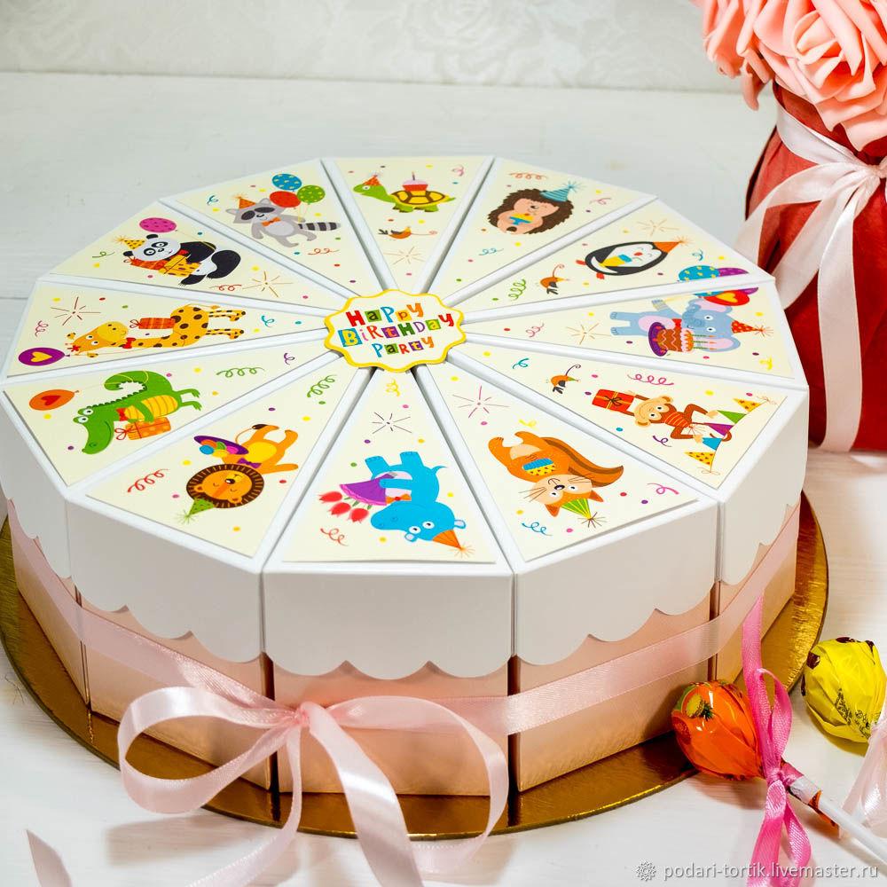Бумажный торт для сладостей и сюрпризов, Открытки, Белгород, Фото №1