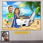 Сувениры и подарки handmade. Livemaster - original item A wedding gift to the newlyweds. Wedding cartoon pictures. Gift. Handmade.
