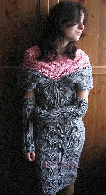 Платье Вязаное Косы Купить