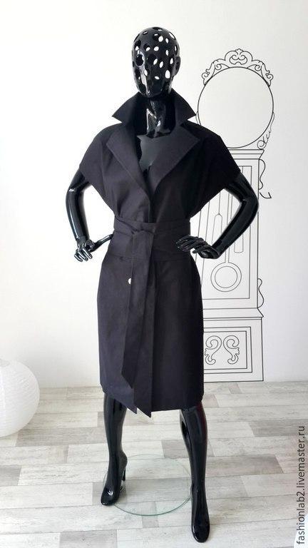 """Верхняя одежда ручной работы. Ярмарка Мастеров - ручная работа. Купить Тренч из плотной костюмной ткани """"Стиль Ланвин +"""". Handmade."""