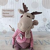 Куклы и игрушки handmade. Livemaster - original item Moose Olic. interior toy.. Handmade.