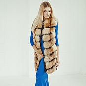 Одежда ручной работы. Ярмарка Мастеров - ручная работа Меховой жилет из лисы удлиненный. Handmade.