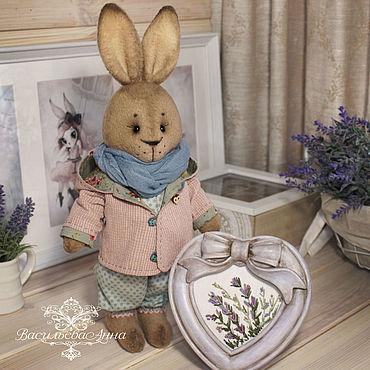 Куклы и игрушки ручной работы. Ярмарка Мастеров - ручная работа Кролик Макарка с большим сердцем!. Handmade.