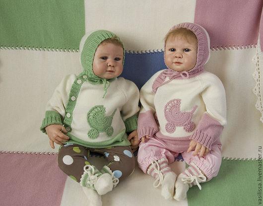 Для новорожденных, ручной работы. Ярмарка Мастеров - ручная работа. Купить Комплект для новорожденных Колясочка. Handmade. Для новорожденных