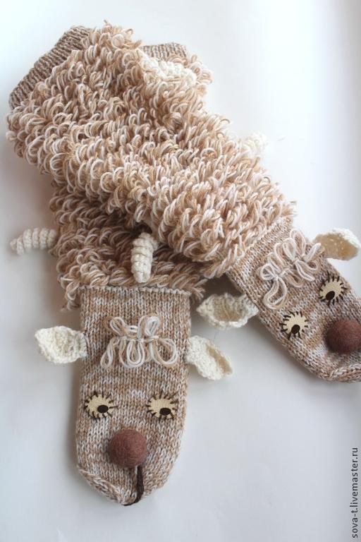 """Носки, Чулки ручной работы. Ярмарка Мастеров - ручная работа. Купить Гольфы согревающие и поднимающие настроения """"Овца овцой!"""". Handmade."""