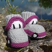 Работы для детей, handmade. Livemaster - original item Booties: cars. Handmade.