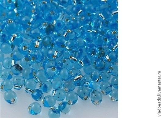 Для украшений ручной работы. Ярмарка Мастеров - ручная работа. Купить Бисер Drops 3.4 мм 018 (TRANSPARENT SILVERLINED BLUE TOPAZ ). Handmade.