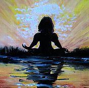 Картины и панно ручной работы. Ярмарка Мастеров - ручная работа Картина Медитация. Handmade.