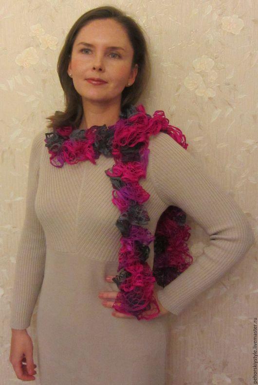 Шарфы и шарфики ручной работы. Ярмарка Мастеров - ручная работа. Купить Вязаные шарфы в ассортименте. Handmade. Вязаный шарф