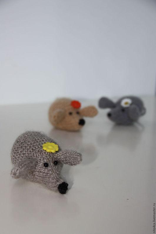 Игрушки животные, ручной работы. Ярмарка Мастеров - ручная работа. Купить Мышка вязаная. Handmade. Серый, подарок на любой случай