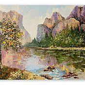 Картины и панно handmade. Livemaster - original item Painting Yosemite Mountain Landscape. Handmade.