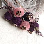 Украшения handmade. Livemaster - original item Brooch pin. Velvet berries.. Handmade.