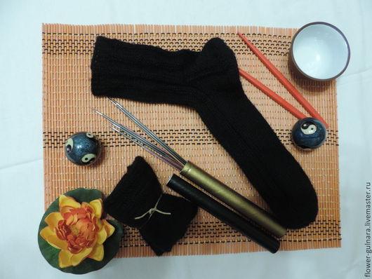 """Носки, Чулки ручной работы. Ярмарка Мастеров - ручная работа. Купить Носки """"Инь-ян"""". Handmade. Черный, носки"""