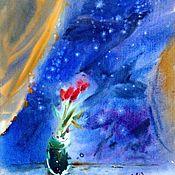 Картины и панно ручной работы. Ярмарка Мастеров - ручная работа Акварель То, Что Рассказали Мне Цветы. Handmade.
