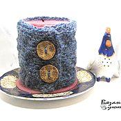 Для дома и интерьера handmade. Livemaster - original item candlesticks: Cozy cover on a candlestick or candle interior. Handmade.