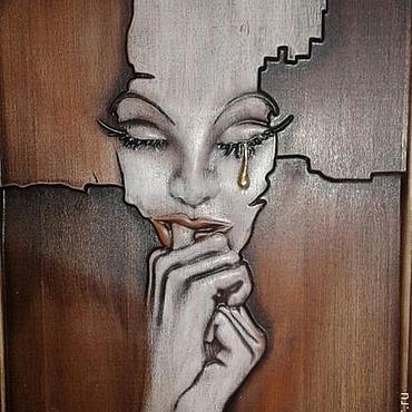 Картины и панно ручной работы. Ярмарка Мастеров - ручная работа Резное дерево_Слеза. Handmade.