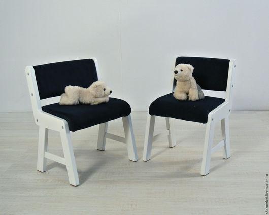 Мебель ручной работы. Ярмарка Мастеров - ручная работа. Купить Стульчик детский мягкий. Handmade. Белый, растущий стул