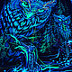 Psychedelic forest painting 'Mystic Owl'. Pictures. Fractalika. My Livemaster. Фото №4