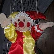 Куклы и пупсы ручной работы. Ярмарка Мастеров - ручная работа кукла-марионетка Петрушка , Арлекин. Handmade.