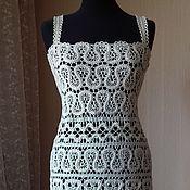 Одежда ручной работы. Ярмарка Мастеров - ручная работа Платье ажурное брюгге. Handmade.