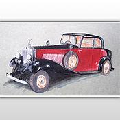 Картины ручной работы. Ярмарка Мастеров - ручная работа Rolls-Royce Phantom II_1934. Handmade.