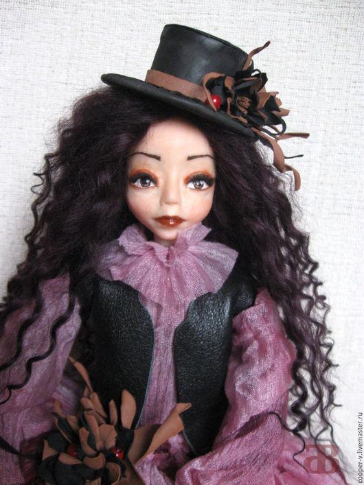 Коллекционные куклы ручной работы. Ярмарка Мастеров - ручная работа. Купить Джемма - авторская кукла. Handmade. Фуксия, подарок женщине